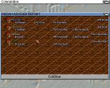 Sid Meier's Colonization Amiga This screen shows the status of the native tribes you have contacted