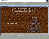 Sid Meier's Colonization Amiga Once you retire you get your reward...