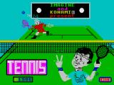 Konami's Tennis ZX Spectrum Loading screen