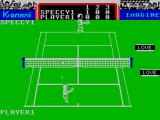 Konami's Tennis ZX Spectrum Clearing the net