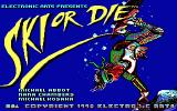 Ski or Die DOS Title Screen