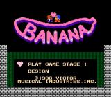 Banana NES Title screen.