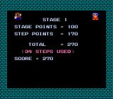 Banana NES You get points depending on how well you did in the level. Your steps are also counted.