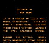 Star Wars NES The game's in Japanese, but at least we get an English intro.