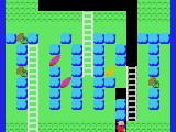 Mole Mole 2 MSX Let the blocks fall down so you can reach the papaya