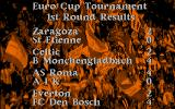 Euro Soccer DOS Results of the Tournament matches (VGA)