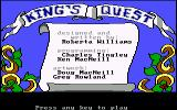 King's Quest PC Booter Title screen (original PCjr release)