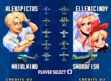 Aero Fighters 3 Neo Geo Plane selection for 2 players