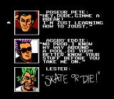 Skate or Die NES Selecting opponent to the joust event.