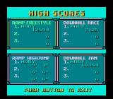 Skate or Die NES The high scores table. I could have done better...