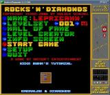 Rocks 'n' Diamonds Windows Title screen and main menu