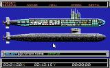 688 Attack Sub Amiga The ship status screen