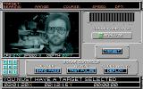 688 Attack Sub Amiga The sonar screen - when carrying out an order most screens show a digitised picture of the crewman who is implementing your command.