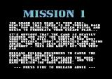 Arnie Savage: Combat Commando Commodore 64 Read the mission briefing before you unleash Arnie!