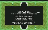 Alcazar: The Forgotten Fortress Commodore 64 Title
