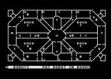 Space Station Zulu Atari 8-bit View of the space station