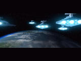 Star Wars: Force Commander Windows Opening cinematic - Imperial star destroyers descend to invade a planet.