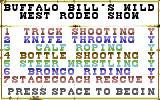 Buffalo Bill's Wild West Show Commodore 64 Selecting events