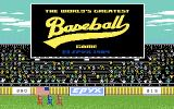 The World's Greatest Baseball Game Commodore 64 Title screen 2