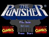 The Punisher Genesis Title screen and main menu