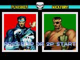 The Punisher Genesis Select 1 player or 2 players.