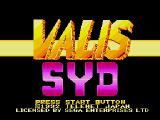 Syd of Valis Genesis Title screen