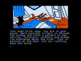 The Wizard of Oz Apple II Starting the game in your house...what a mess!