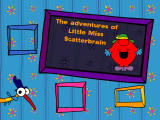 The Adventures of Little Miss Scatterbrain Windows Title screen