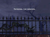 Clue: Murder at Boddy Mansion Windows The load screen depicts a vine growing across the mansion gates.
