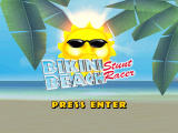 Bikini Beach: Stunt Racer Windows Title screen