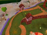 3D Ultra Mini Golf Adventures: Carnival Windows Camera sweep for the Duck Shoot course