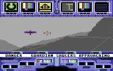 Koronis Rift Commodore 64 Fighting another guardian saucer. A hulk is visible in the distance.