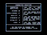 Realms of Darkness Apple II Character creation