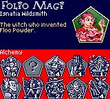 Harry Potter and the Sorcerer's Stone Game Boy Color The Folio Magi screen.