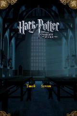 Harry Potter and the Goblet of Fire Nintendo DS Opening screen