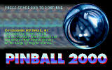 Pinball 2000 DOS Title Screen