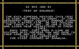Chambers of Shaolin Commodore 64 Description of the first test - Test of Balance