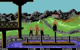 Chambers of Shaolin Commodore 64 Test of Balance - try to reach the marked pole without falling into the water