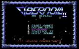 Cybernoid II: The Revenge Commodore 64 Title screen and options