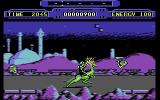 Rimrunner Commodore 64 Blasting some aliens