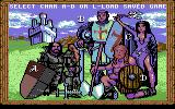 King's Bounty Commodore 64 Character select screen