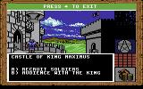 King's Bounty Commodore 64 Visiting a castle