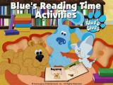 Blue's Reading Time Activities Windows Blue's Reading title screen