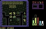 Lords of Chaos Commodore 64 Battle against a giant spider