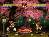 Samurai Shodown III: Blades of Blood PlayStation Watching the demo fight between Haohmaru and Shizumaru.