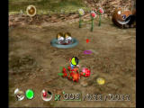Pikmin GameCube Pikmin battle fierce creatures.