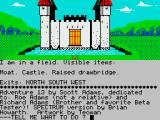 Sorcerer of Claymorgue Castle ZX Spectrum Game start with credits
