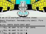 Sorcerer of Claymorgue Castle ZX Spectrum The main courtyard, which we visit frequently