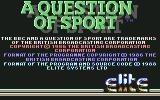 A Question of Sport Commodore 64 Title
