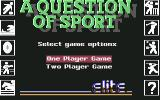 A Question of Sport Commodore 64 Select no. of players